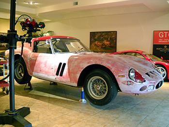 3D scanning a 1962 Ferrari 250 GTO using an ATOS 3D scanner