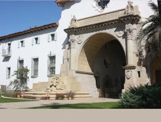 Sculptures, Museums and Cultural Heritage, Santa Barbara County Courthouse entry
