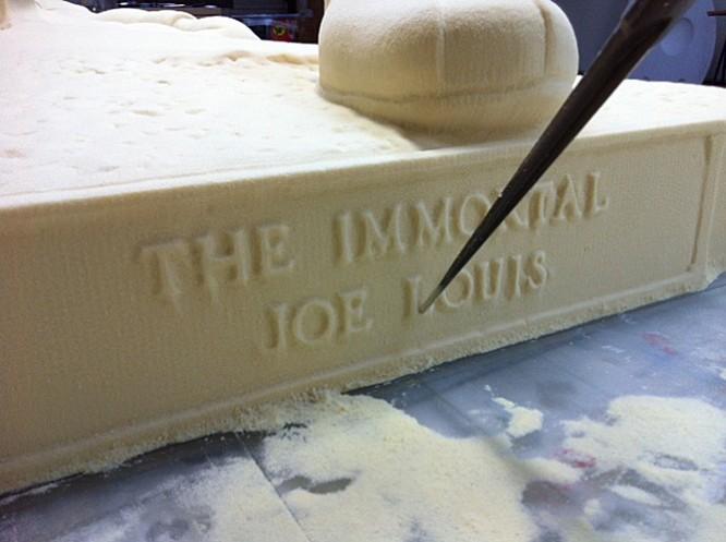 NC Foam Milling, Structured Light 3D Scanning and Digital Enlargement of Joe Louis Plaque