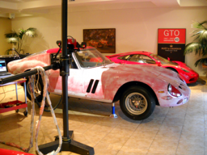 3D scanning of 1962 Ferrari GTO