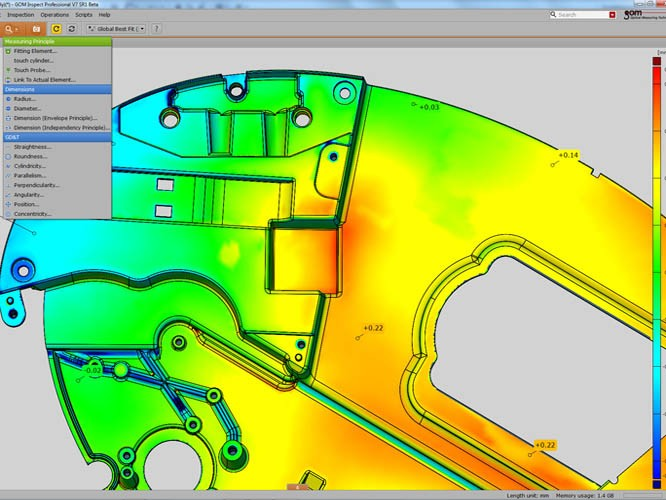 3D Inspection and Analysis of a Controller GOM