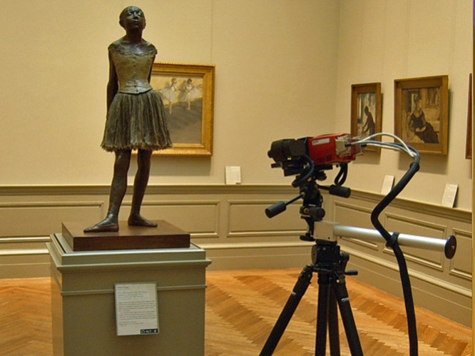 """Onsite 3D Scanning of """"The Little14-year-old Dancer"""" Sculpture by Degas"""