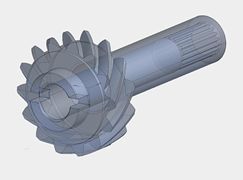 "Solidworks CAD model of a pinion gear for a 1938 Talbot-Lago ""Teardrop"" roadster"