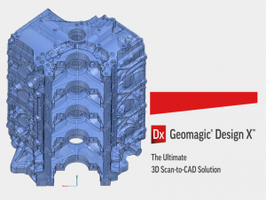 CAD model of Dodge Duramax v-8 truck engine created with Geomagic DesignX software