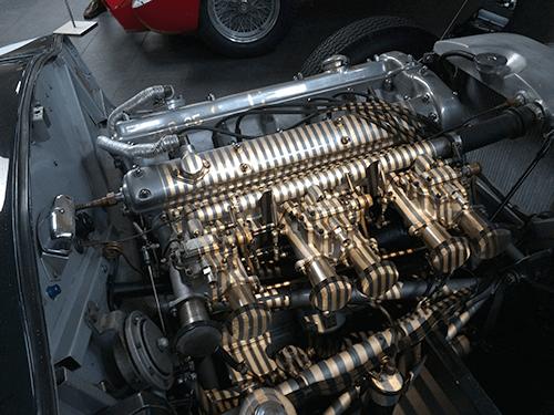 3D scanning engine of 1953 Jaguar C-Type