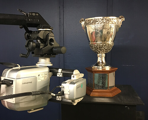 Concours d'Elegance Trophy being 3D scanned using a Breuckmann Stereoscan 3D scanner