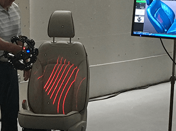 3D scanning automobile seats with a Creaform Metrascan 3D scanner
