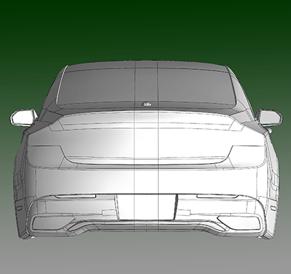 Solidworks CAD model of a Lincoln MKZ