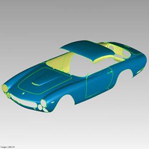 3D scan data of Ferrari body