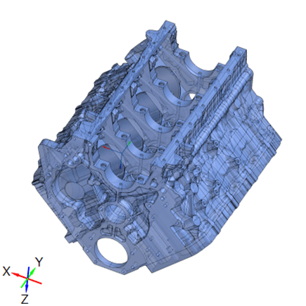 CAD file reverse engineered from 3D scan data of a Duramax V-8 engine.