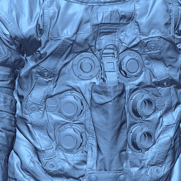 3D scan data of actual space suit worn by Neil Armstrong for moon landing July 20, 1969