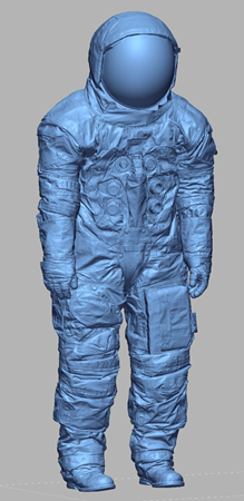 3D scan data of actual space suit worn by Neil Armstrong for the moon landing July 20, 1969