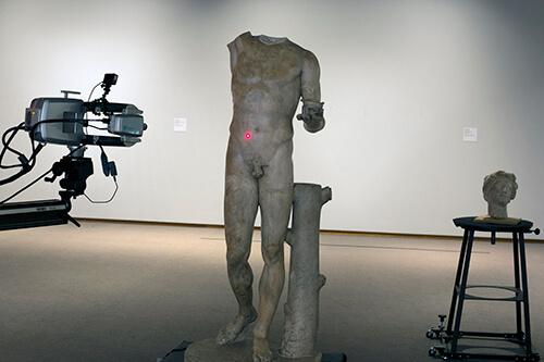 3D scanning of Roman torso of Bacchus.