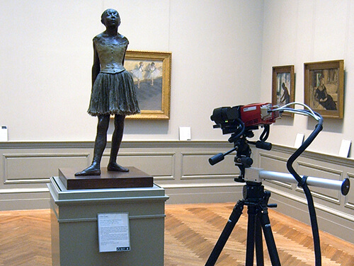 "3D scanning of ""The Little Fourteen-Year-Old Dancer"" by Edgar Degas using an ATOS 3D scanner"