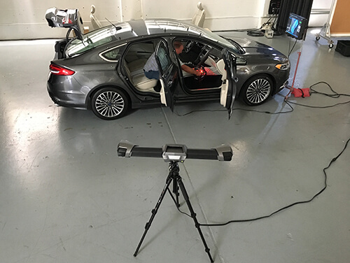 3D scanning a Ford Fusion using a Creaform Metrascan 3D scanner