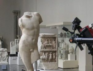3D scanning a Roman male torso of the first century C. E.
