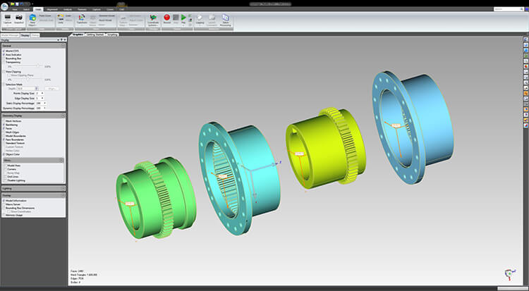 CAD Assembly of cable car axle created from 3D scanning.