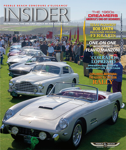 2017 Pebble Beach Concours d'Elegance Insider Magazine featuring the making of the trophy by Scansite 3D