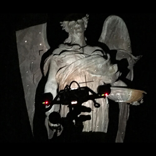 3D scanning of The Ruth Anne Dodge Memorial, also known as the Black Angel, in Council Bluffs, Iowa