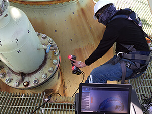 3D scanning a power generation plant using a Creaform Handyscan 3D scanner and an Aicon DPA photogrammetry system