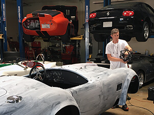 3D scanning a Shelby Cobra with a Creaform Metrascan 3D scanner to create CAD data