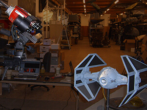 "3D scanning a model from the ""Star Wars"" movie series using an ATOS structured light 3D scanner"