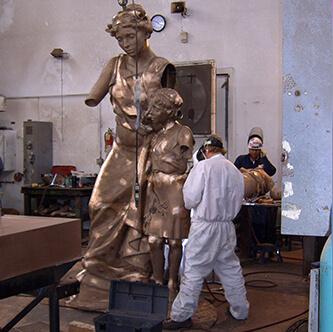 Bronze sculpture at the Utah State Capitol by artists Eugene Daub, Robert Firmin, and Jonah Hendrickson