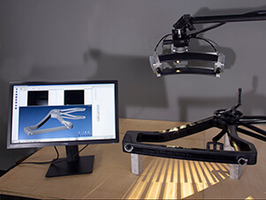 3D scanning a bike frame using a Breuckmann Stereoscan structured light 3D scanner
