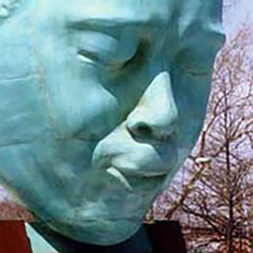 Bronze casting of Charlie Parker by Robert Graham. 3D scanning by Scansite 3D