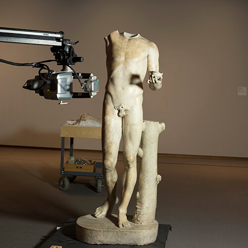 3D scanning of Roman statue of Bacchus with a Breuckmann Stereoscan structured light 3D scanner