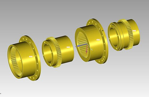 Solidworks CAD assembly for axle of San Francisco Cable Car
