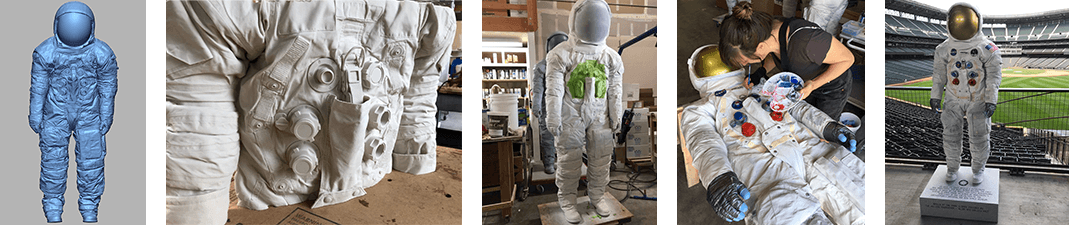 3D production of Neil Armstrong space suit for 50th anniversary of moon walk